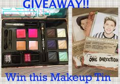MyStyleSpot: #GIVEAWAY! #Win A Fun Makeup Tin by One Direction- 2 Winners!  #ondirection #1D #makeup #collectible #tin #cosmetics #palette #beauty #skin #mystylespot #sweepstakes #contest #lipgloss #nailpolish #nails #naillacquer #eyeliner #eyeshadow
