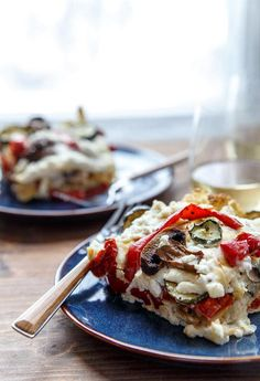 Roasted Vegetable Lasagna via Dinner for Two