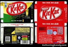 Japan Kit Kats Gingerale and regular - 2008-2009 For those that aren't aware, Japan gets numerous unusual flavors of Kit Kats every year that no one else in the world ever sees.  Ginger Ale is easily one of the most unusual – and from personal experience it was also the most unexpectedly delicious.