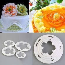 4 Unids Peonía Pétalo Cortador de Flores Pastel de Pasta de Goma Decoración Del…