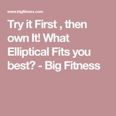 ellipticals for sale at Big Fitness
