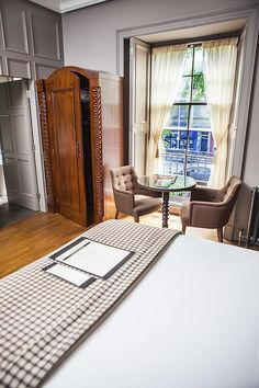 This circa-1832 Georgian mansion is restored to perfection and opened in 2014 with 10 rooms. Thanks to its off-the-tourist path location in Stockbridge and the pub's status as a the place to drink, it's a great place to come if you want to experience what it would be like to live among Edinburghers. Initially, the facade is a bit imposing, but look a bit closer at the austere entrance and you'll find hints of playfulness (the curlicues around the lampposts, for example)