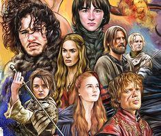 Game of thrones Illustration for 'Cine Premiere' on Behance