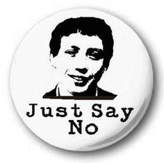 """Zammo Grange Hill """"Just Say No"""" button badge"""