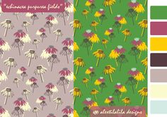 """echinacea purpurea fields"" by @alextilalila my new pattern of my Shine Bright collection @makeitindesign course #abspd #abspdmod1"
