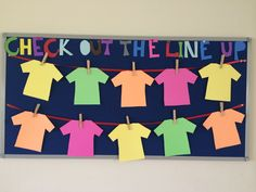Check out the line up in 4th grade. English bulletin boards. Welcome back to school ideas.
