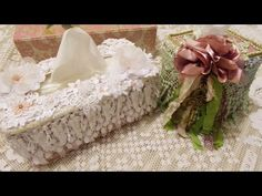 Tissue Box Covers with Tresors de Luxe - YouTube