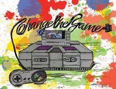 Change The Game by MISHIMUS, via Behance  #videogames #gaming #nintendo #snes #ninjaturtles #turtleintime #fanart