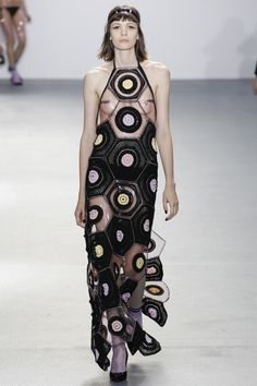 #crochet hexi dress at #fashion week by sibling