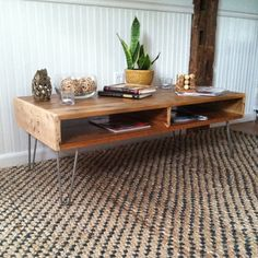 Reclaimed Wood Coffee Table, Hairpin Leg Console, Media Console, Reclaimed Wood…