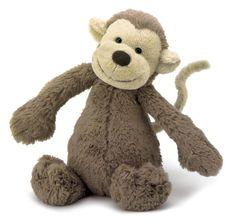 Bashful Affe Kuscheltier von Jellycat - Bonuspunkte sammeln, auf Rechnung bestellen, DHL Blitzlieferung!