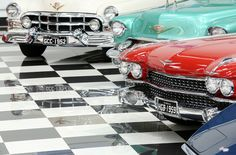 Garagem de Nelson Piquet e sua coleção de carros antigos
