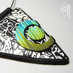 pendant by E.H.design, via Flickr    Love the use of different shapes in this pendant!