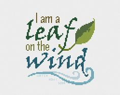 Firefly Leaf on the Wind Cross Stitch Pattern PDF Instant Download