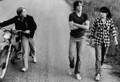 Matt Dillon, Emilio Estevez and Meg Tilly in Tex 1982 Young Matt Dillon, Dallas Winston, Emilio Estevez, Young Guns, 80s Movies, Iconic Photos, Young Actors, The Breakfast Club, Classic Movies