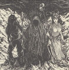 In Norse mythology, Gullveig is a being who was speared by the Æsir, burnt three times, & thrice reborn. Upon her third rebirth, Gullveig's name becomes Heiðr & she is described as a knowledgeable & skillful völva. Scholars have proposed that Gullveig/Heiðr is the same figure as the goddess Freyja, that Gullveig's death may have been connected to corruption by way of gold among the Æsir, &/or that Gullveig's treatment by the Æsir may have led to the Æsir-Vanir War.