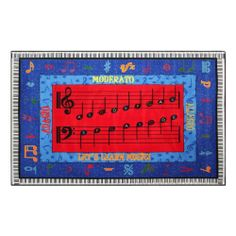 """Music Scales Learning Rug (10' 9"""" W x 13' 2"""" L) by Sprogs Early Childhood Furniture. $499.88"""