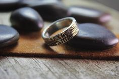 Wood Grain Sterling Silver Band by GlobalPathways on Etsy https://www.etsy.com/listing/110180376/wood-grain-sterling-silver-band