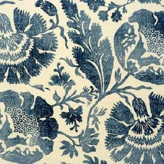 GP and J Baker - Bleu Anglais Prints Fabric Collection -