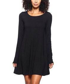Love this Black Swing Dress on #zulily! #zulilyfinds