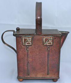 ARTS & CRAFTS/NOUVEAU ANTIQUE HAYLE COPPER WATERING CAN GLASGOW STYLE/LIBERTY S