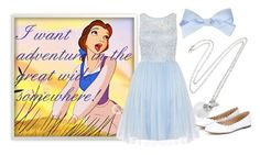 """""""She Really is a Funny Girl That Belle"""" by tardisblueimpala-221b ❤ liked on Polyvore featuring Dorothy Perkins, Chloé, Blue, disney, belle, Disneyprincess and BeautyandtheBeast"""