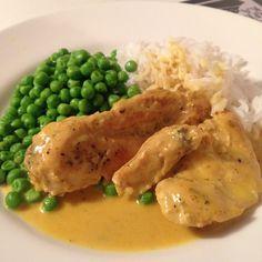 Underbar currykyckling med ris