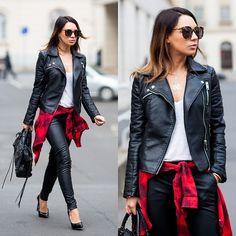 Zara Jacket, J Brand Trousers, Balenciaga Bag