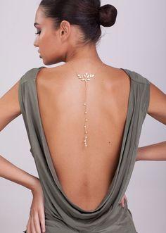 Vergoldete Ketten - Vergoldeter Rückenkette - ein Designerstück von shirlimatatia1 bei DaWanda