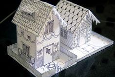 Zondagmiddag niks te doen? Ik heb een hele leuk DIY gevonden: zelf superschattige huisjes in elkaar vouwen. De print ligt al klaar, dus je hoeft alleen nog wat te knutselen. En het resultaat is té leuk!