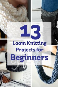 13 Loom Knitting Projects for Beginners #LoomKnitting #Scarf #Knitting