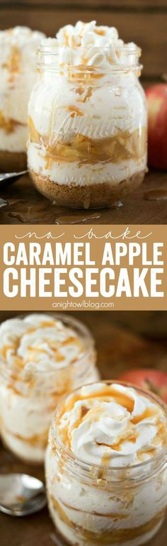 No Bake Caramel Apple Cheesecake - a delicious and decadent dessert that will leave you wanting more!: