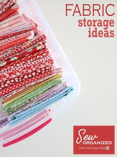 Fabric storage and organization, tips and ideas. #fabricstorage