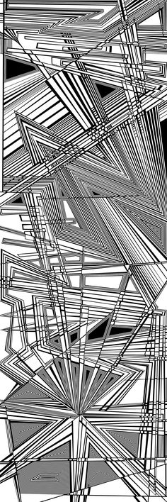 temples - organic abstract, dynamic black and white optical obsession, by Douglas Christian Larsen - http://fineartamerica.com/featured/temples-douglas-christian-larsen.html