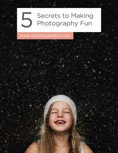 "Her images scream JOY! I love her perspective and tips for keeping photography fun. Read ""5 Secrets to Making Photography Fun."""