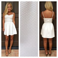 Blurred Lines Textured Dress - WHITE by Dainty Hooligan