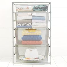 Platinum Elfa Mesh Start-A-Stack | The Container Store