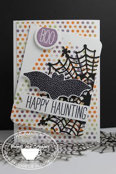 Yvonne is Stampin' & Scrapping: Stampin' Up! Halloween cards with Spider web doilies, Dots for Days and Cheer all year #stampinup