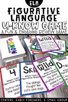 This figurative language game reviews lots of different figurative language. This figurative language activity is engaging and fun and will have your students WANTING to review figurative language. Includes similes, metaphors, idioms, hyperbole and more! Great for the upper elementary classroom!