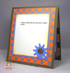 CARD-D-OLOGY: Off Colored Card - Blue, Orange and Gray 2