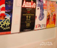 Broadway poster decor