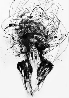 """Agnes-Cecile ~ """"Dark Visions"""" """" Fans of artist Silvia Pelissero (Agnes-Cecile) are, of course, most familiar with her beautiful watercolor work. However, in the past she has also shown a much darker. Agnes Cecile, Art Noir, Art Du Croquis, Depression Art, Depression Illustration, Deep Art, Arte Obscura, Sketch Art, Design Tattoos"""