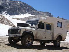 land rover camper