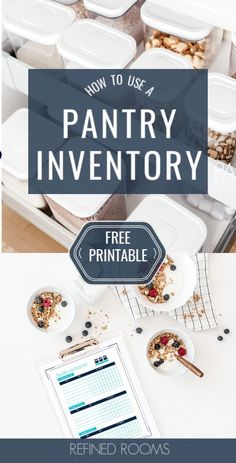 Make the most of the food you have on hand with this free Meal Planning Printable Kit + pantry inventory tutorial. This printables set includes: pantry inventory, freezer inventory, a weekly menu planner and grocery list, and a master list of dinner Pantry Inventory Printable, Grocery List Printable, Meal Planning Printable, Weekly Menu Planners, Meal Planner, Personal Planners, Recipe Organization, Pantry Organization, Organizing Tips