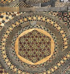 Cosmati pavement before the high altar, Westminster Abbey.