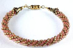 Purple Stripe Agate and Amethyst Bracelet by NancysCrystalFantasi