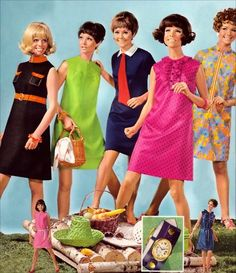 What my mother was wearing when she was expecting me..    Picnic fashions, 1968  retro retro retro retro retro