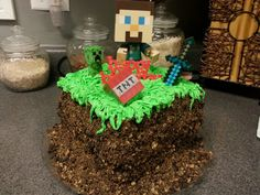 Minecraft cake for my nephew
