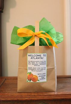 Wedding Gift Bags Out Of Town Guests : to Atlanta gift bags for out of town wedding guests. Greystone Wedding ...