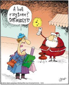 This is the future. | Read The Flying McCoys #comics @ http://www.gocomics.com/theflyingmccoys/2014/12/06?utm_source=pinterest&utm_medium=socialmarketing&utm_campaign=social-pin| #GoComics #webcomic #Santa